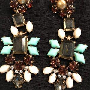 Stella & Dot Multi Stone Earrings